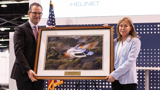 Sikorsky Recognizes Helinet Aviation and CEO Kathryn Purwin During HAI Heli-Expo 2020