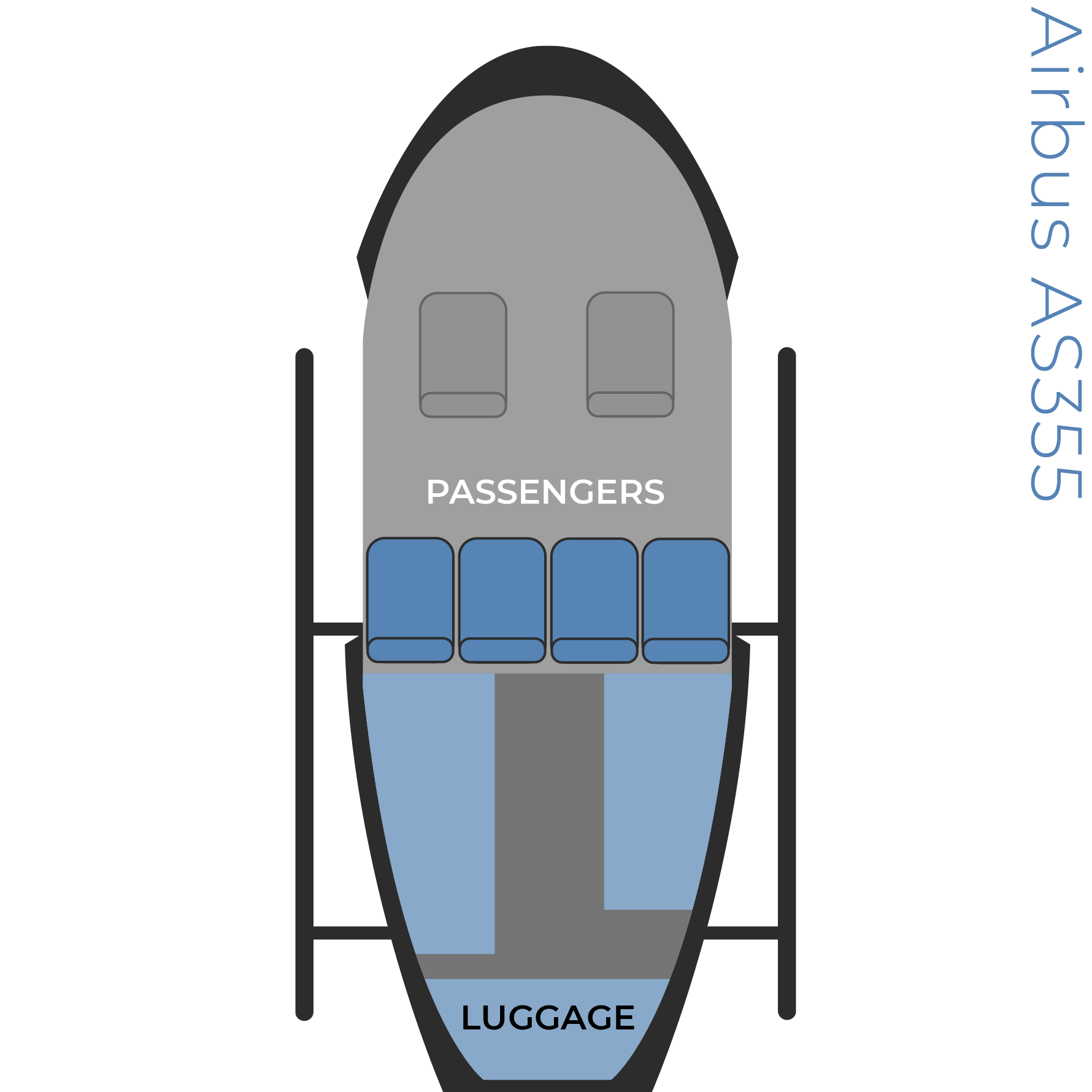 Airbus AS355 seat configuration image