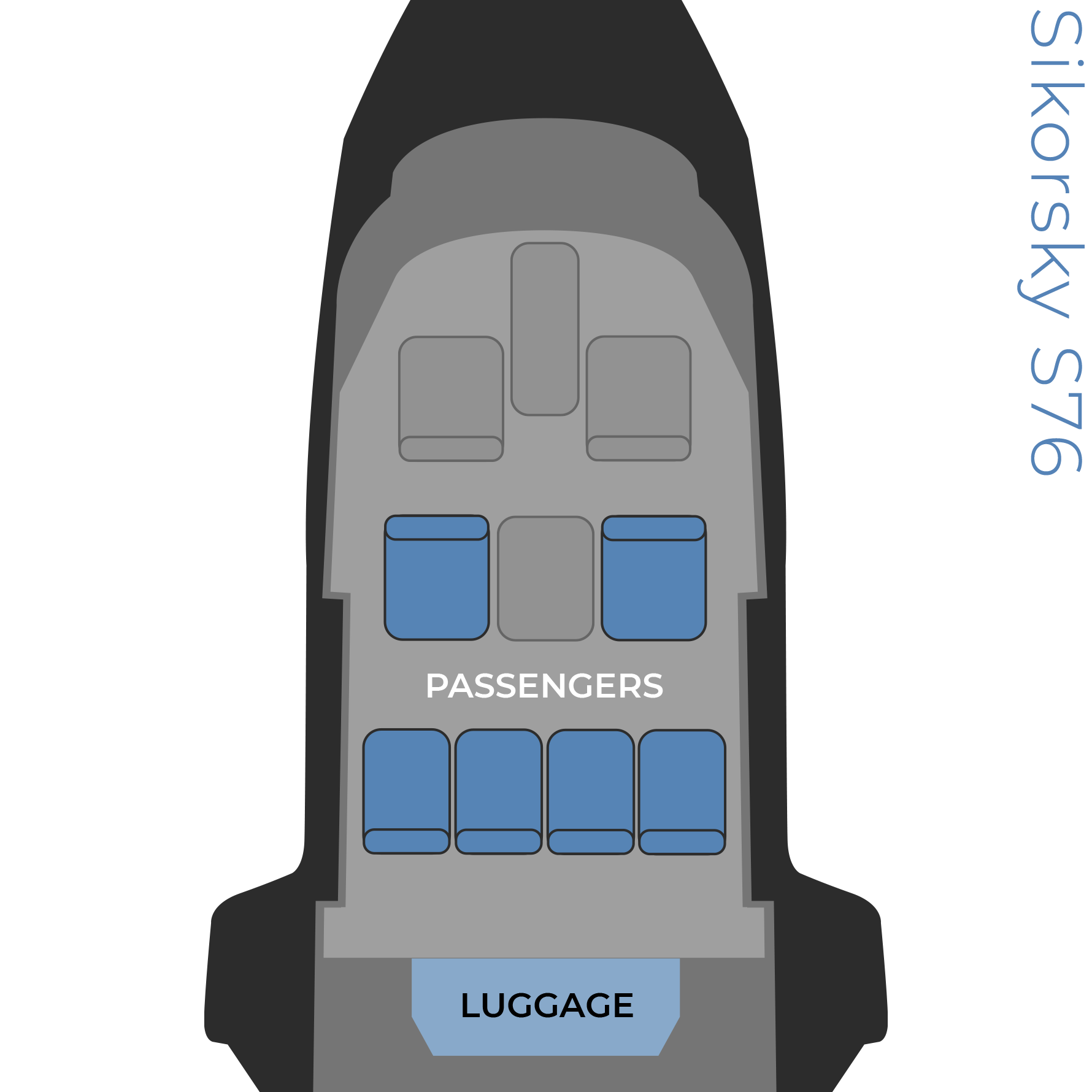 Sikorsky S76 seat configuration image
