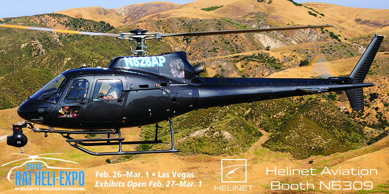 Visit Helinet at Booth N6309 during HAI-HELI Expo 2018